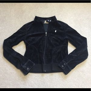 Juicy Couture Velour Biker Jacket